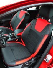 MW Brothers Ford Focus III (2011-2014), красные вставки + красная нить