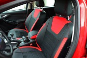 Фото 2 - Чехлы MW Brothers Ford Focus III (2011-2014), красные вставки + красная нить