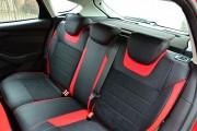 Фото 3 - Чехлы MW Brothers Ford Focus III (2011-2014), красные вставки + красная нить