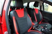 Фото 5 - Чехлы MW Brothers Ford Focus III (2011-2014), красные вставки + красная нить