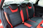 Фото 6 - Чехлы MW Brothers Ford Focus III (2011-2014), красные вставки + красная нить