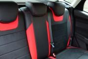 Фото 7 - Чехлы MW Brothers Ford Focus III (2011-2014), красные вставки + красная нить