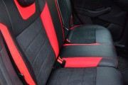 Фото 8 - Чехлы MW Brothers Ford Focus III (2011-2014), красные вставки + красная нить