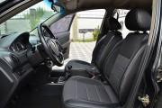 Фото 3 - Чехлы MW Brothers Chevrolet Aveo T250 sedan (2002-2016), полностью темные+серая нить