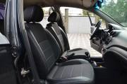 Фото 8 - Чехлы MW Brothers Chevrolet Aveo T250 sedan (2002-2016), полностью темные+серая нить
