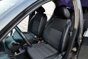 Фото 2 - Чехлы MW Brothers Chevrolet Aveo T200 sedan (2002-2008), полностью темные+серая нить