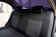 Фото 4 - Чехлы MW Brothers Chevrolet Aveo T200 sedan (2002-2008), полностью темные+серая нить