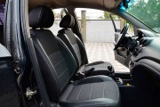 Фото 6 - Чехлы MW Brothers Chevrolet Aveo T200 sedan (2002-2008), полностью темные+серая нить