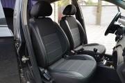 Фото 8 - Чехлы MW Brothers Chevrolet Aveo T200 sedan (2002-2008), полностью темные+серая нить