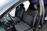Фото 2 - Чехлы MW Brothers ZAZ Vida sedan (2012-н.д.), полностью темные+серая нить