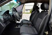 Фото 3 - Чехлы MW Brothers ZAZ Vida sedan (2012-н.д.), полностью темные+серая нить
