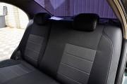 Фото 4 - Чехлы MW Brothers ZAZ Vida sedan (2012-н.д.), полностью темные+серая нить