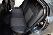 Фото 5 - Чехлы MW Brothers ZAZ Vida sedan (2012-н.д.), полностью темные+серая нить