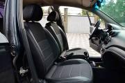 Фото 6 - Чехлы MW Brothers ZAZ Vida sedan (2012-н.д.), полностью темные+серая нить