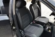 Фото 8 - Чехлы MW Brothers ZAZ Vida sedan (2012-н.д.), полностью темные+серая нить
