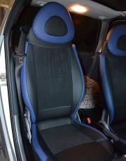 MW Brothers Mercedes-Benz Smart Fortwo I (450) (1998-2007), синие вставки + синяя нить