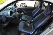 Фото 3 - Чехлы MW Brothers Mercedes-Benz Smart Fortwo I (450) (1998-2007), синие вставки + синяя нить