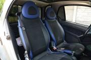 Фото 6 - Чехлы MW Brothers Mercedes-Benz Smart Fortwo I (450) (1998-2007), синие вставки + синяя нить