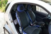 Фото 7 - Чехлы MW Brothers Mercedes-Benz Smart Fortwo I (450) (1998-2007), синие вставки + синяя нить