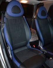MW Brothers Mercedes-Benz Smart Fortwo II (451) (2007-2014), синие вставки + син¤¤ нить