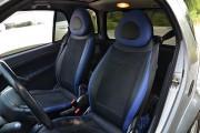 """'ото 2 - """"ехлы MW Brothers Mercedes-Benz Smart Fortwo II (451) (2007-2014), синие вставки + син¤¤ нить"""