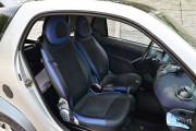 """'ото 5 - """"ехлы MW Brothers Mercedes-Benz Smart Fortwo II (451) (2007-2014), синие вставки + син¤¤ нить"""