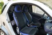 """'ото 7 - """"ехлы MW Brothers Mercedes-Benz Smart Fortwo II (451) (2007-2014), синие вставки + син¤¤ нить"""