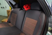 Фото 8 - Чехлы MW Brothers Lada Priora 2172 (ВАЗ-2172) (2008-н.д.), красная нить