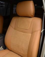 MW Brothers Toyota Land Cruiser Prado 120 (2002-2009), бежевые + коричневая нить