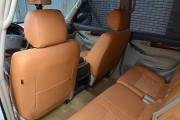 Фото 3 - Чехлы MW Brothers Toyota Land Cruiser Prado 120 (2002-2009), бежевые + коричневая нить