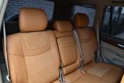 Фото 4 - Чехлы MW Brothers Toyota Land Cruiser Prado 120 (2002-2009), бежевые + коричневая нить