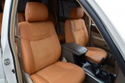 Фото 5 - Чехлы MW Brothers Toyota Land Cruiser Prado 120 (2002-2009), бежевые + коричневая нить
