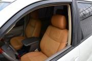 Фото 6 - Чехлы MW Brothers Toyota Land Cruiser Prado 120 (2002-2009), бежевые + коричневая нить