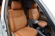 Фото 7 - Чехлы MW Brothers Toyota Land Cruiser Prado 120 (2002-2009), бежевые + коричневая нить
