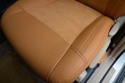 Фото 8 - Чехлы MW Brothers Toyota Land Cruiser Prado 120 (2002-2009), бежевые + коричневая нить