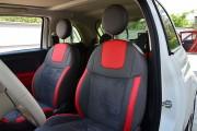 Фото 2 - Чехлы MW Brothers Fiat 500 (2007-н.д.),  полностью графитовые+красные вставки
