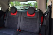 Фото 6 - Чехлы MW Brothers Fiat 500 (2007-н.д.),  полностью графитовые+красные вставки