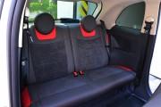 фото 7 - Чехлы MW Brothers Fiat 500 (2007-н.д.),  полностью графитовые+красные вставки
