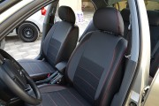 Фото 2 - Чехлы MW Brothers Nissan Almera Classic (2006-2013), красная нить