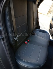 Фото 5 - Чехлы MW Brothers Nissan Note I (2005-2014), серая нить