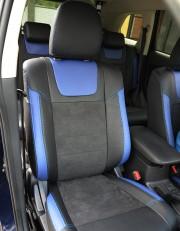 MW Brothers Mitsubishi Outlander III (2012-2015), синие вставки+синяя нить