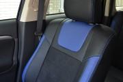Фото 4 - Чехлы MW Brothers Mitsubishi Outlander III (2012-2015), синие вставки+синяя нить