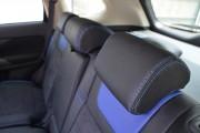 Фото 5 - Чехлы MW Brothers Mitsubishi Outlander III (2012-2015), синие вставки+синяя нить