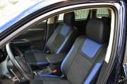 Фото 7 - Чехлы MW Brothers Mitsubishi Outlander III (2012-2015), синие вставки+синяя нить