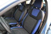 Фото 2 - Чехлы MW Brothers Peugeot 301 (2013-н.д.), синие вставки + синяя нить