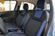 Фото 4 - Чехлы MW Brothers Peugeot 301 (2013-н.д.), синие вставки + синяя нить