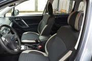 Фото 3 - Чехлы MW Brothers Subaru Forester IV (2013-н.д), светлые вставки + серая нить