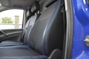 Фото 8 - Чехлы MW Brothers Mercedes-Benz Vito W639 (1+2) грузовой (2003-2014), синяя нить