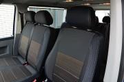 Фото 8 - Чехлы MW Brothers Volkswagen T5 Caravelle рестайлинг (2010-2015) пассажир (8 мест), серая нить