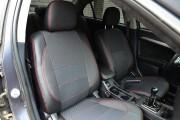 Фото 3 - Чехлы MW Brothers Mitsubishi Lancer X 1,5L (2007-2011), красная нить